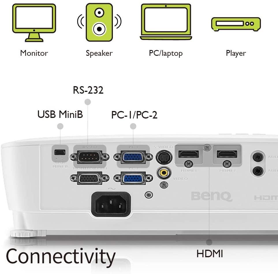 benq mh535 connectique